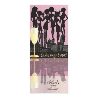 Text der Mädchen-Nachtheraus Party-Feier-| DIY Karte