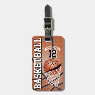 Text des Sport-Basketball-| DIY Koffer Anhänger