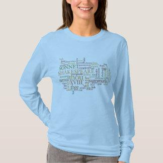 TEXT-ENTWURF SHAKESPEARE-SONETT-XVIII T-Shirt