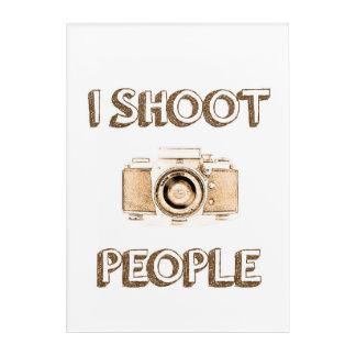 Text-Foto-Kameraphotograph der Triebleute lustiger Acryldruck