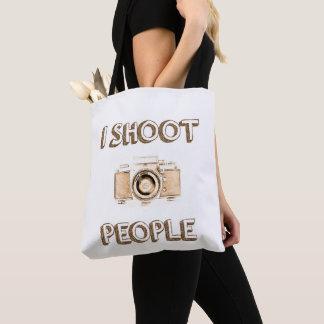 Text-Foto-Kameraphotograph der Triebleute lustiger Tasche