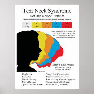 Text-Hals-Syndrom-Chiropraktik in metrischen Poster
