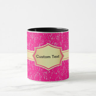 Text-Kaffee-Tasse der rosa Fahne kundenspezifische Tasse