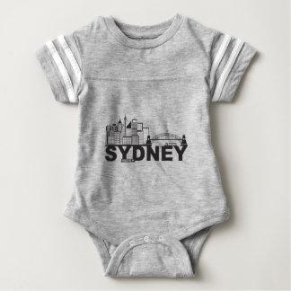 Text-Kontur Sydneys Australien Sklyine Baby Strampler