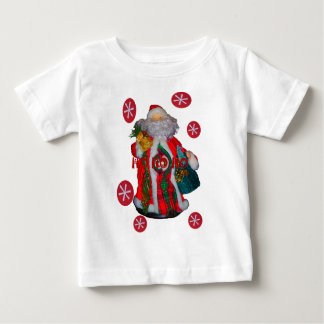 Text-Kunst desi glücklicher Grüße Sankt Hohoho Baby T-shirt