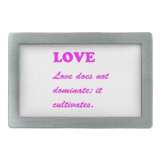 Text: LIEBE Romance reine Herzen HEISSE Rechteckige Gürtelschnallen