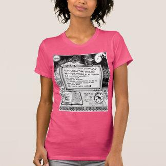 "Text wagt (a) ""Lago Alieno di Metallo "" T-Shirt"