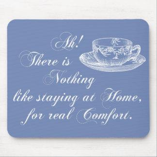 Text-Zuhause Janes Austen und Tee-Blau Mousepad