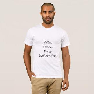 Texted T - Shirt mit dem Inspirieren des Gedankens