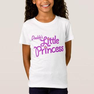 Textmädchen-Rosaspitze der kleinen Prinzessin des T-Shirt