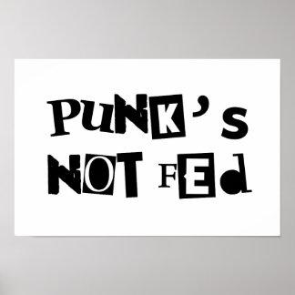 Textmitteilungs-Babykinderkinder des Punks nicht Poster