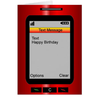 Textnachricht-alles Gute zum Geburtstag Grußkarte