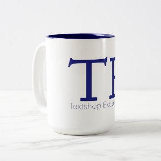 Textshop experimentiert Kaffee-Tasse Zweifarbige Tasse
