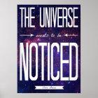 TFiOS, welches das Universum will, um bemerktes Poster
