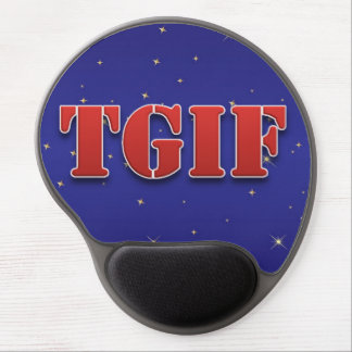 TGIF danken Gott, den es Freitag-Schein-Gel Gel Mousepads