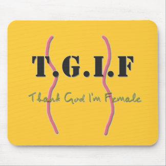 TGIF mousepad mit lustigem Zitat
