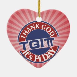 TGIPi danken Gott sein PU-Tag 3,14 das rote/blaue Keramik Ornament
