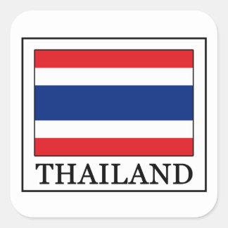 Thailand-Aufkleber Quadratischer Aufkleber