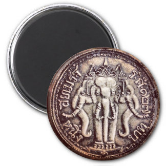 Thailand-Baht-Elefant-Magnet Runder Magnet 5,1 Cm