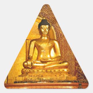 Thailand Buddha Dreieckiger Aufkleber