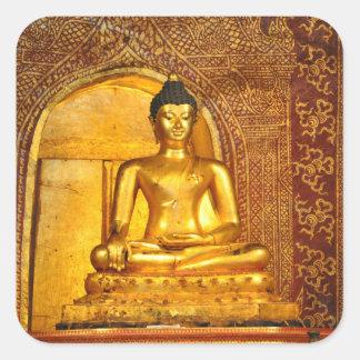 Thailand Buddha Quadratischer Aufkleber