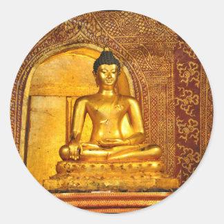 Thailand Buddha Runder Aufkleber