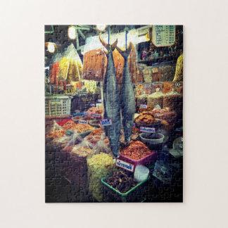 Thailand-Fischmarkt-Puzzlespiel Puzzle