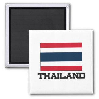Thailand-Flagge Quadratischer Magnet