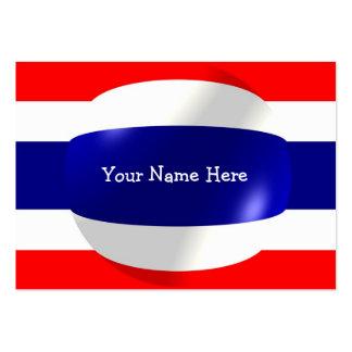 Thailand-Flagge mit Blasen-Visitenkarte