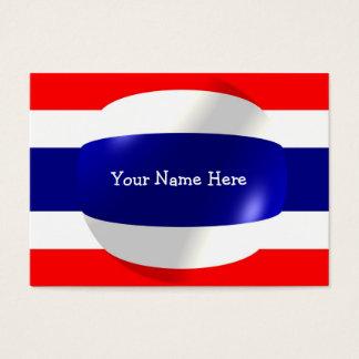 Thailand-Flagge mit Blasen-Visitenkarte Visitenkarte