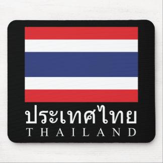 Thailand-Flagge mit Thailand-Wort in der Mousepad