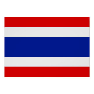 Thailand-Flagge Poster