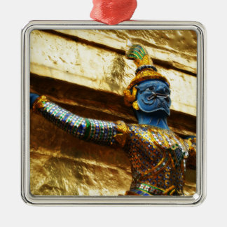 Thailand garuda quadratisches silberfarbenes ornament