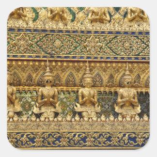 Thailand garudas quadratischer aufkleber