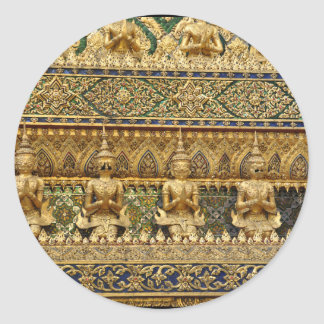 Thailand garudas runder aufkleber