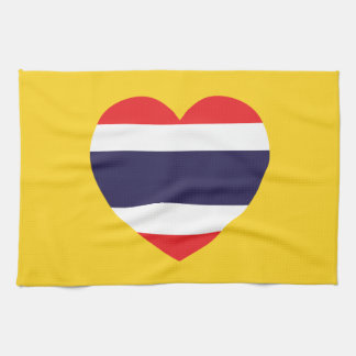 Thailand-Herz-Flagge Küchentuch