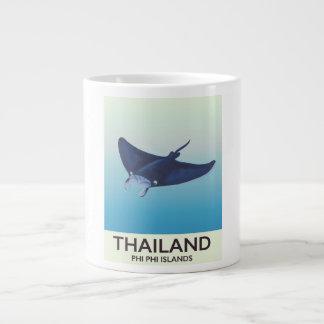Thailand-Phi-Phi-Insel-Reiseplakat Jumbo-Tasse