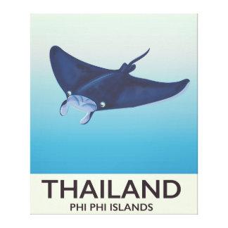 Thailand-Phi-Phi-Insel-Reiseplakat Leinwanddruck