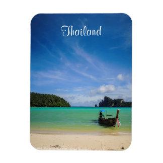 Thailand-Reise-Strand-Foto mit Fischerboot Flexibler Magnet