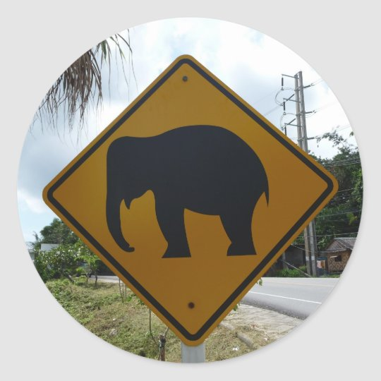 Thailand Runder Aufkleber