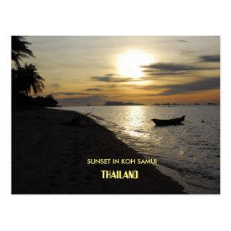 Thailand-Sonnenuntergang in KOH Samui Insel Postkarte