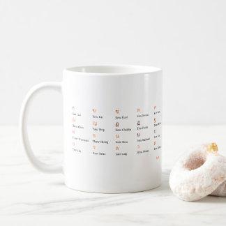 Thailändische Alphabet-Konsonant-Klassen-Tasse Kaffeetasse