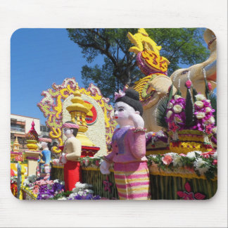 Thailändische Blumenskulpturen Mousepad