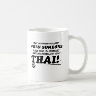 Thailändische Entwürfe für Katzenliebhaber Kaffeetasse