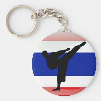 Thailändische Flagge Schlüsselanhänger