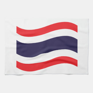 Thailändische Flaggen-Welle Küchentuch
