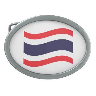 Thailändische Flaggen-Welle Ovale Gürtelschnallen