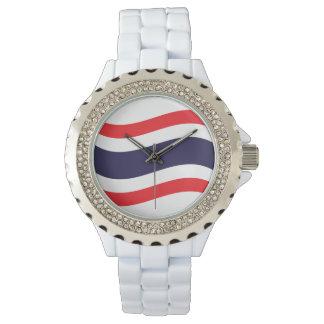 Thailändische Flaggen-Welle Uhr