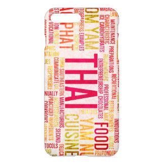 Thailändische Nahrung und Küche-Menü-Hintergrund iPhone 8 Plus/7 Plus Hülle