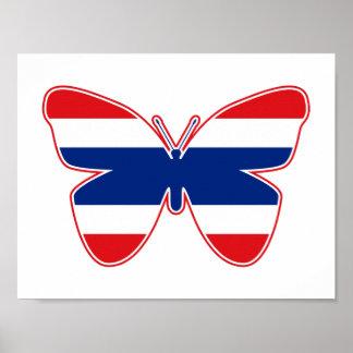 Thailändische Schmetterlings-Flagge Poster